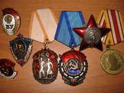 Куплю значки,  знаки,  медали,  награды,  кортики,  сабли