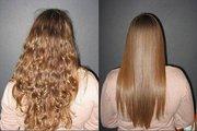 Комплексное восстановление волос с эффектом ламинирования.
