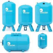 Гидроаккумуляторы 8-1000 л Wester WAV WAO баки мембранные для водоснаб