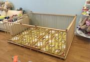 Большой детский деревянный манеж 1.5х2.0м с калиткой на заказ
