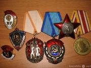 Куплю значки,  знаки,  медали,  ордена,  награды в Омске 59-75-19